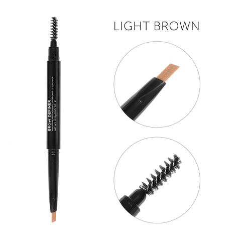 Механический карандаш для бровей со щеточкой Brow Definer(светло-коричневый)