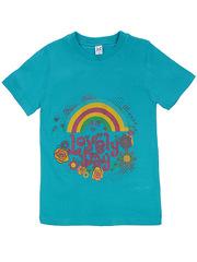 18059-16 футболка для девочек, бирюзовая