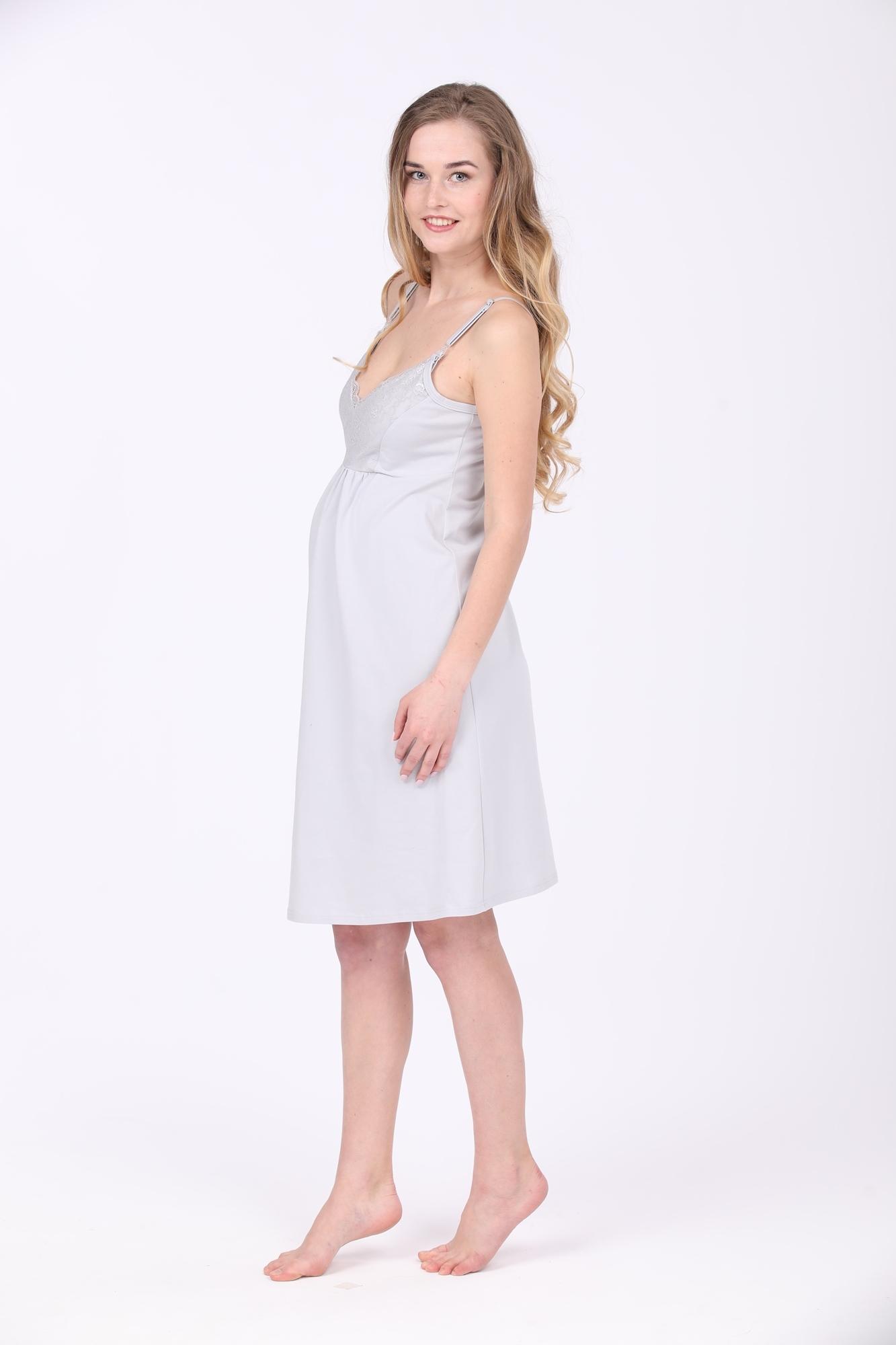 Сорочка 09978 серый