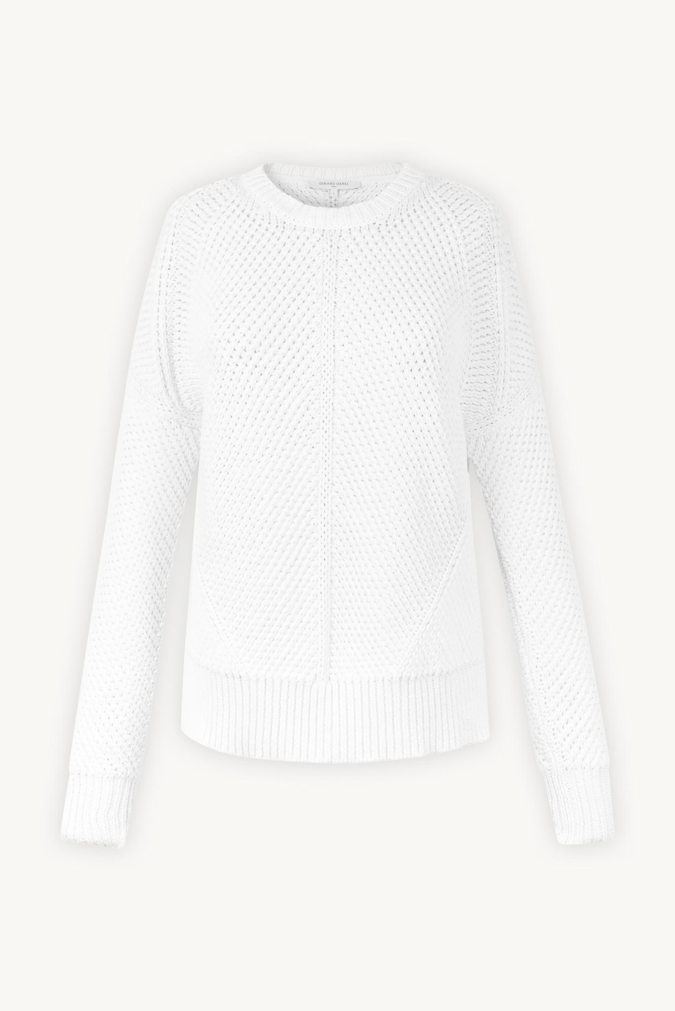 Хлопковый свитер с причудливой строчкой