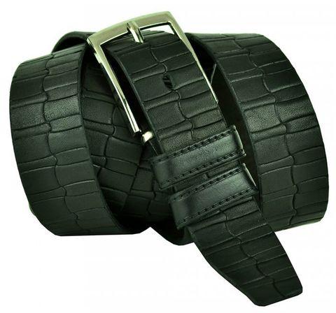 Ремень мужской большого размера из кожи для брюк 35 мм 35RG-B-012