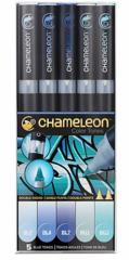 Набор маркеров Chameleon Blue Tones, голубые тона, 5 шт.