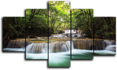 """Модульная картина """"Водопад в джунглях"""""""