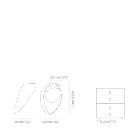 Мебельная ручка PullCast INFINITY CM3015