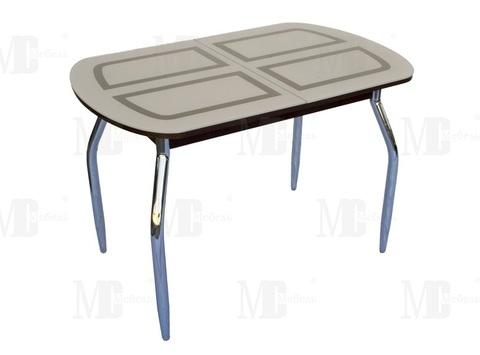 Стол обеденный МС мини прямоугольный бежевый, венге
