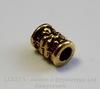 """Бусина металлическая трубочка """"Цветочек"""" (цвет -  античное золото) 6х5 мм, 10 штук"""