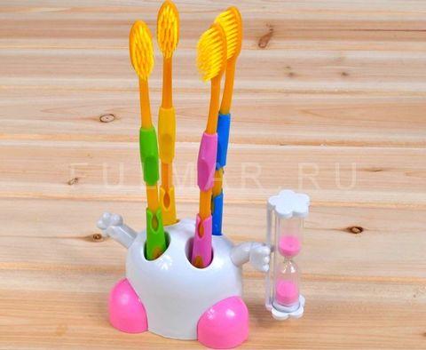 Подставка для зубных щеток с песочными часами