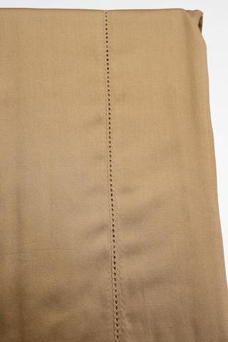 Простыня на резинке 200x200 Сaleffi Dreamcotton перкаль коричневая