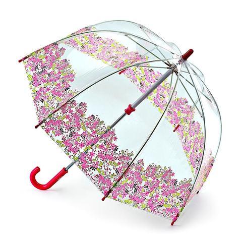 Fulton PrettyPetals (Цветы) Прозрачный зонт-трость детский