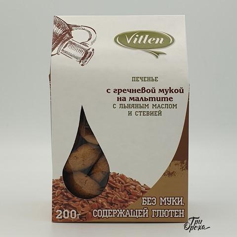 Печенье с гречневой мукой на мальтите VITLEN, 200 гр