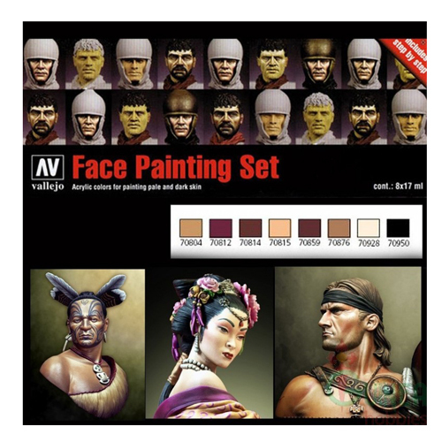 Набор Model Color №19 Faces Painting Set (8 цв.)