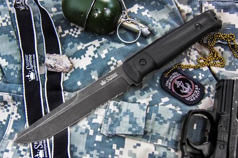 Тактический нож Alpha D2 Stonewash Serrated