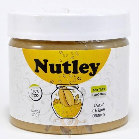 "Паста арахисовая с мёдом хрустящая ""Сrunchy"" Nutley, 300г"