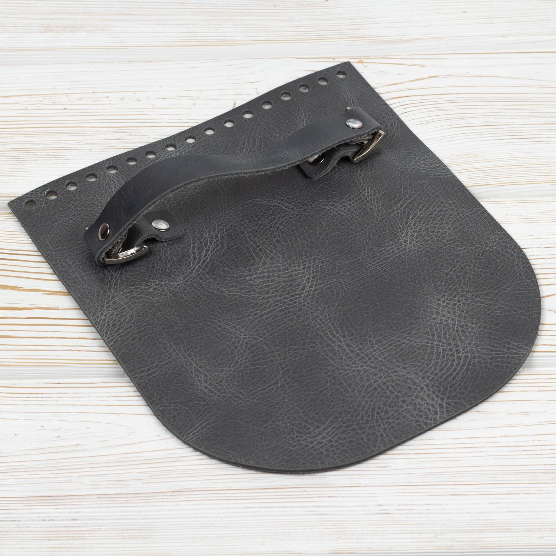 """Вся фурнитура Клапан для сумочки с ручкой кожаный """"Серый пулап"""" IMG_5027.jpg"""