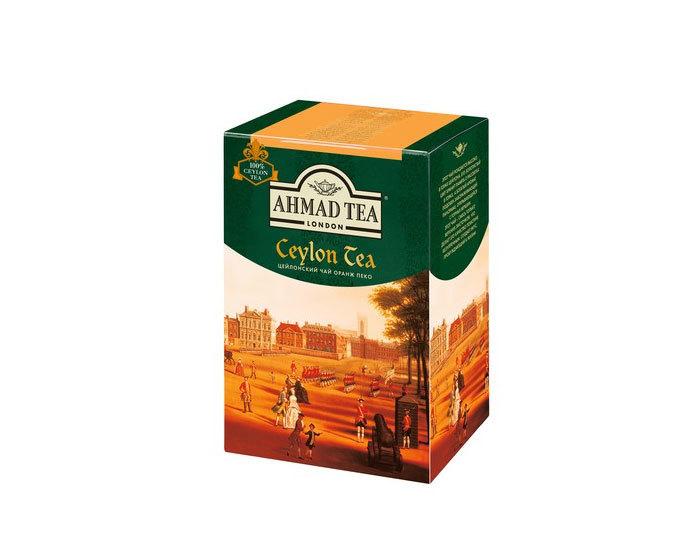 Чай черный листовой Ahmad Ceylon Tea, 200 г (Ахмад)