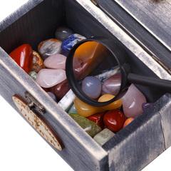 Набор самоцветов Сокровища Пирата N3 с сундуком, 14х8х9 см