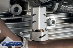 Защита кислородного датчика BMW R1200GS/GSA/R NineT левый серебро