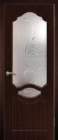 Дверь Сибирь Профиль Венеция, цвет венге, остекленная