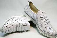 Летние спортивные туфли кроссовки повседневные женские Mi Lord 2007 White-Pearl.