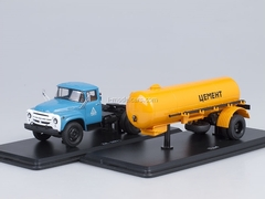 ZIL-130V1 and semitrailer TC-4 Cement orange Start Scale Models (SSM) 1:43
