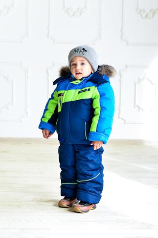 Зимний комбинезон-костюм Спорт синий