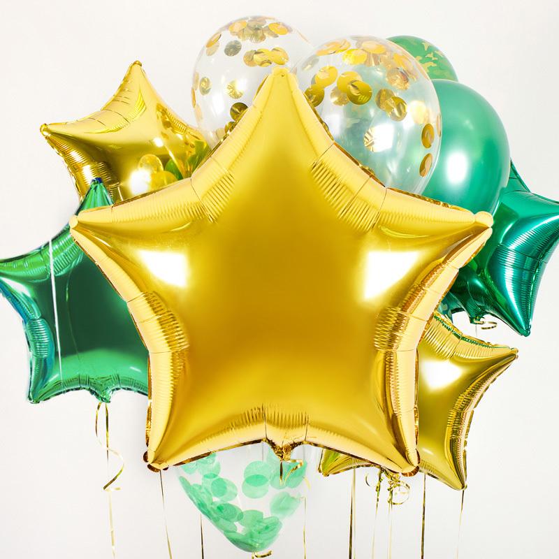 Купить фольгированные шары большая звезда в Перми