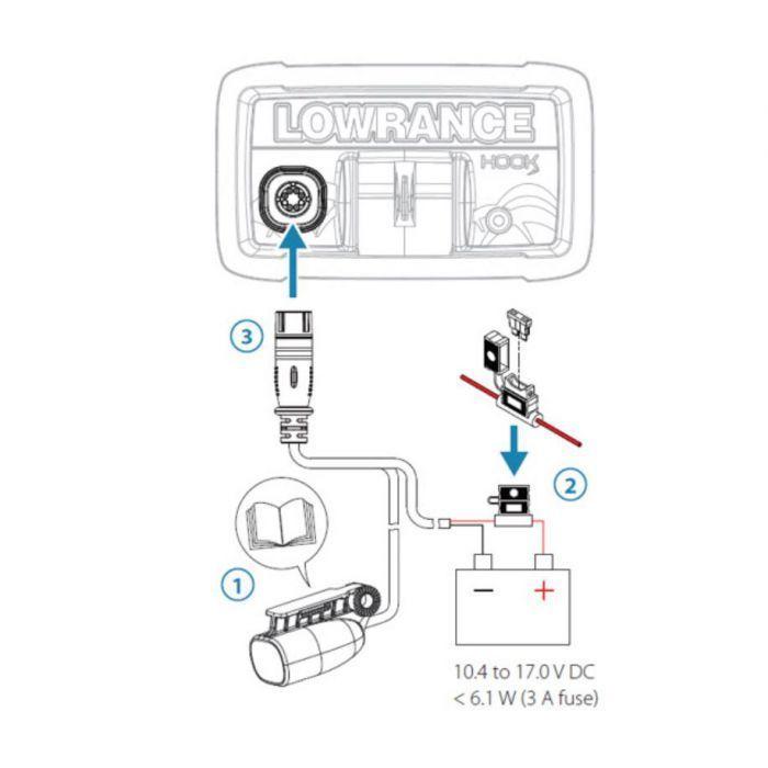 Lowrance Hook2-4x Bullet wiring схема подключения