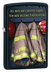Зажигалка Fireman Сoats Black Matte ZIPPO 28316