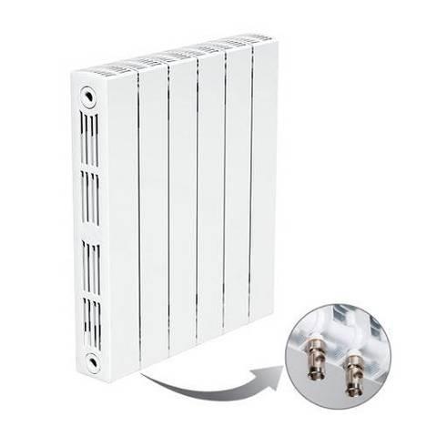 Радиатор биметаллический секционный Rifar SUPReMO Ventil 350 - 10 секций (подключение нижнее левое)
