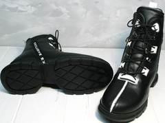 Зимние ботинки на меху женские Ripka 3481 Black-White.