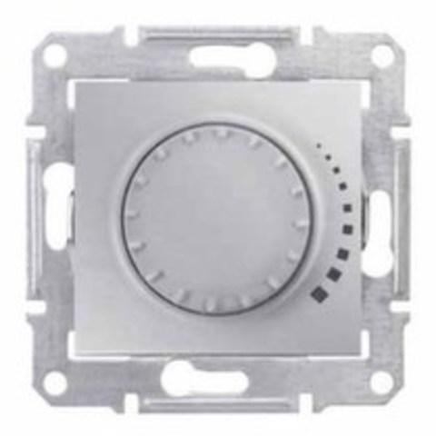 Светорегулятор/Диммер поворотный 25-325 Вт/Ва емкостный, проходной Цвет алюминий. Schneider Electric Sedna. SDN2200760