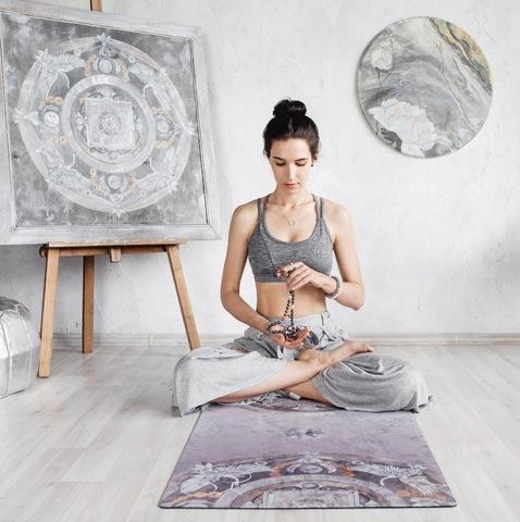 Коврик для йоги Oriental Wind 173-200*61*1-3мм из микрофибры и каучука