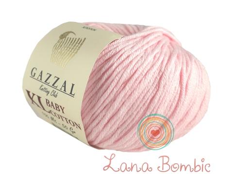 Пряжа Gazzal Baby Cotton XL нежно-розовый 3411