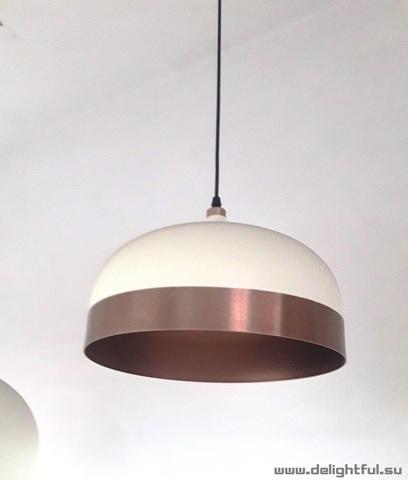 replica Innermost Glaze Pendant - Cream & Charcoal ( wide  )