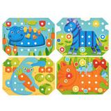 Деревянная мозаика-шнуровка, 9 карточек 5