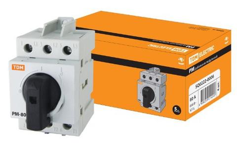 Рубильник модульный РМ-80 3П 80A TDM