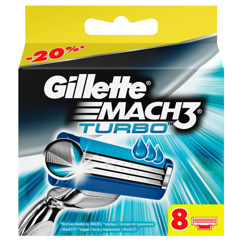 Кассеты Gillette Mach3 Turbo 8 шт