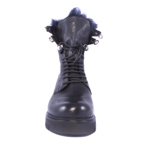 Кожаные ботинки на меху Fruit 4174 на шнуровке