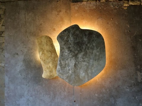 Hind Rabii ya-ya wall lamp 2 ( gold + silver patinated )