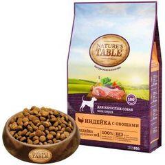 Natural's Table полноценный корм для взрослых собак всех пород с индейкой и овощами 800 г