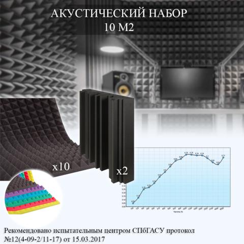 акустический поролон набор для помещения 10 м2
