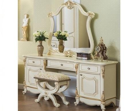 Туалетный столик СТЕФАНИЯ с пуфиком и зеркалом