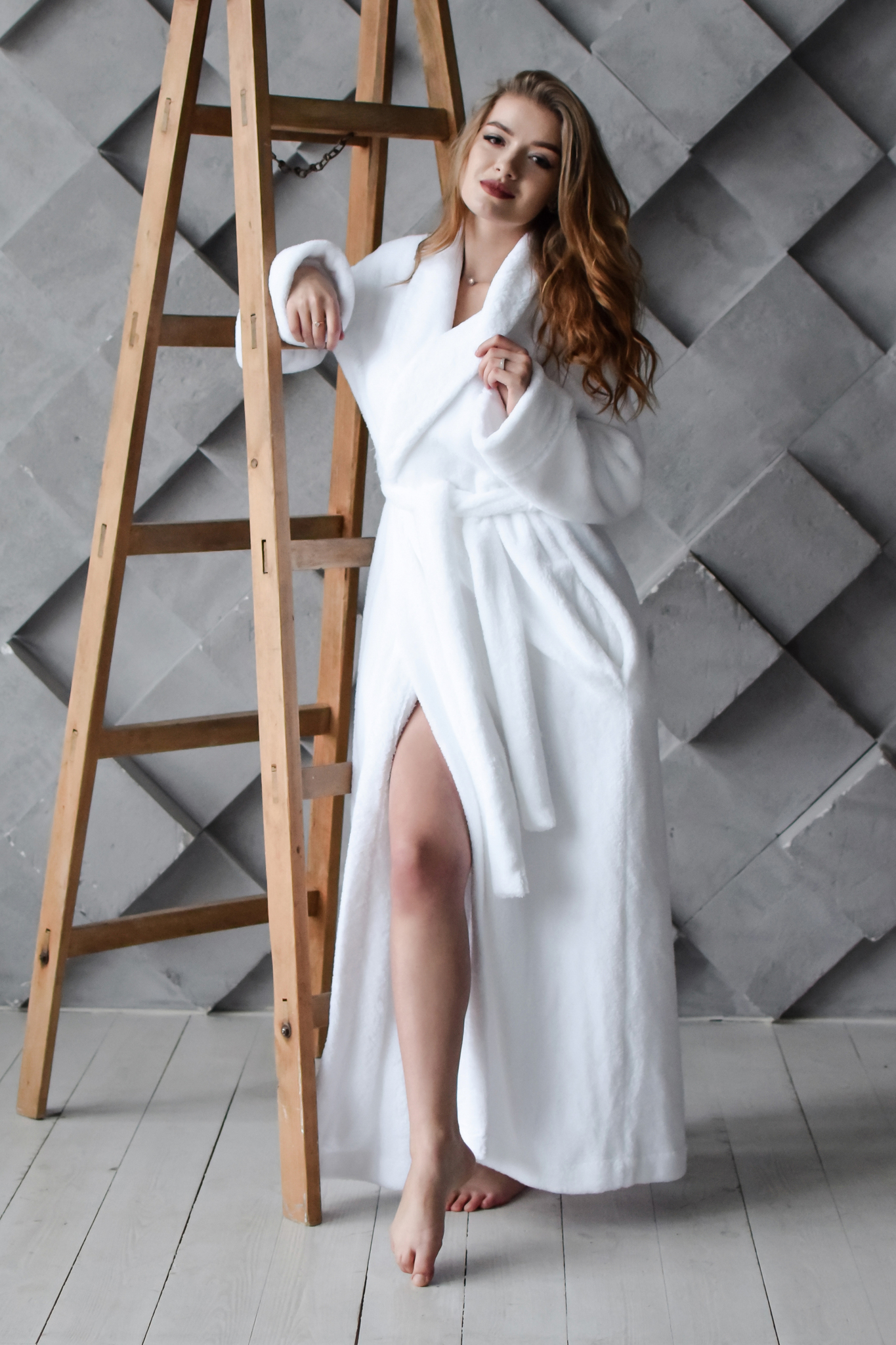 Халат White Long Spa Robe, M/L