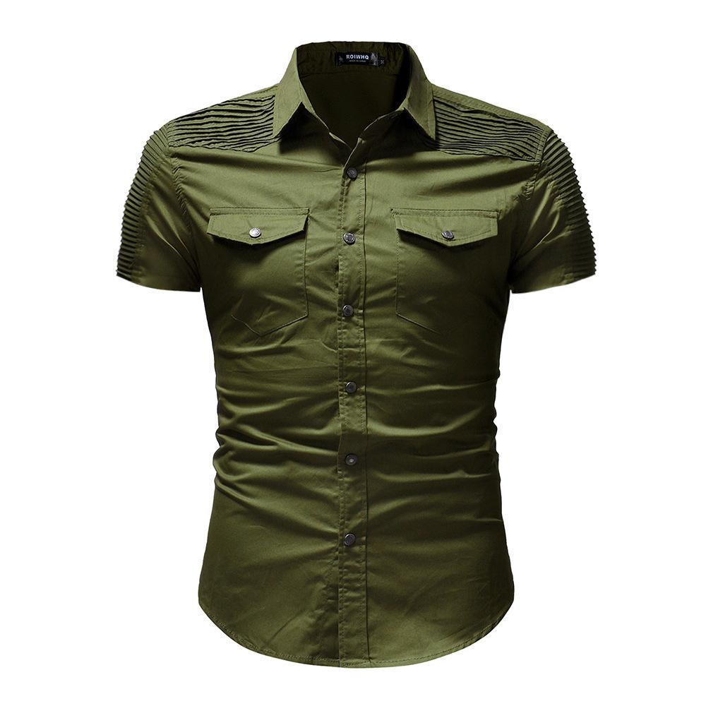 мужские рубашки Мужская рубашка с коротким рукавом Slim Fit 9048433908_289076766.jpg