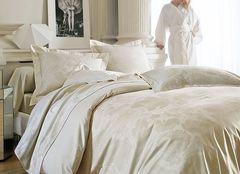 Постельное белье 2 спальное евро Blanc des Vosges Reseda albatre