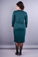 Винтаж. Оригинальное женское платье плюс сайз. Изумруд.