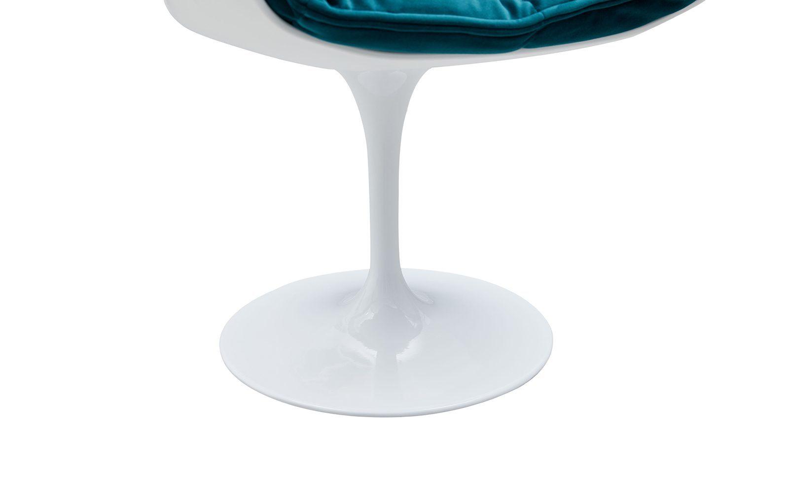 Дизайнерское кресло DC1571D(V2) белый/бирюзовый