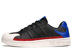 Кеды Мужские Y-3 SuperStar Black White Blue Red