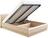 Кровать ОЛИМПИЯ-1400 с мягкой спинкой и подъемным механизмом