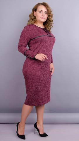 Офіс. Жіноча сукня плюс сайз. Бордо. - купить по выгодной цене ... 86e2ea2546207